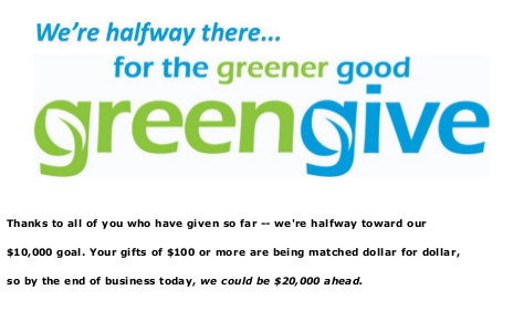 greengive  were halfway there